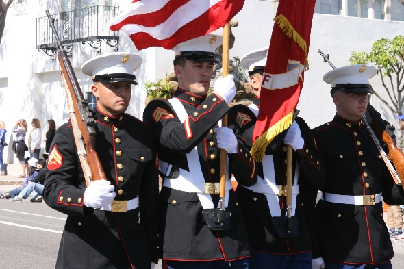 1st Marine Color Guard