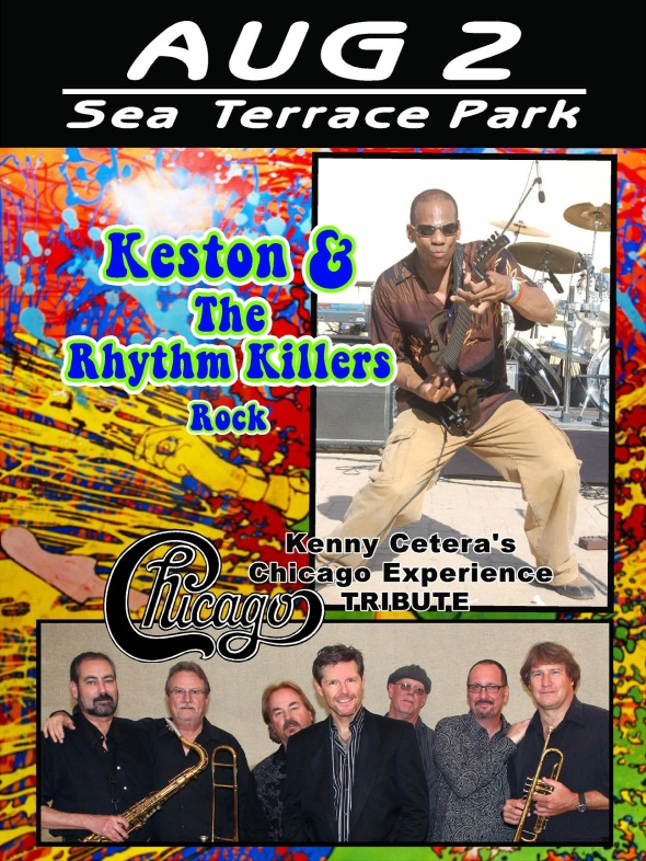 Check out the concert, Sunday the 2nd in Sea Terrace Park!