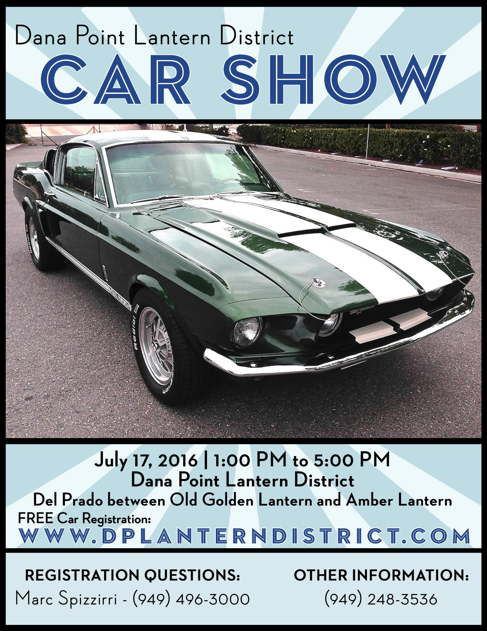 Lantern District Car Show Calendar City Of Dana Point - Car show calendar