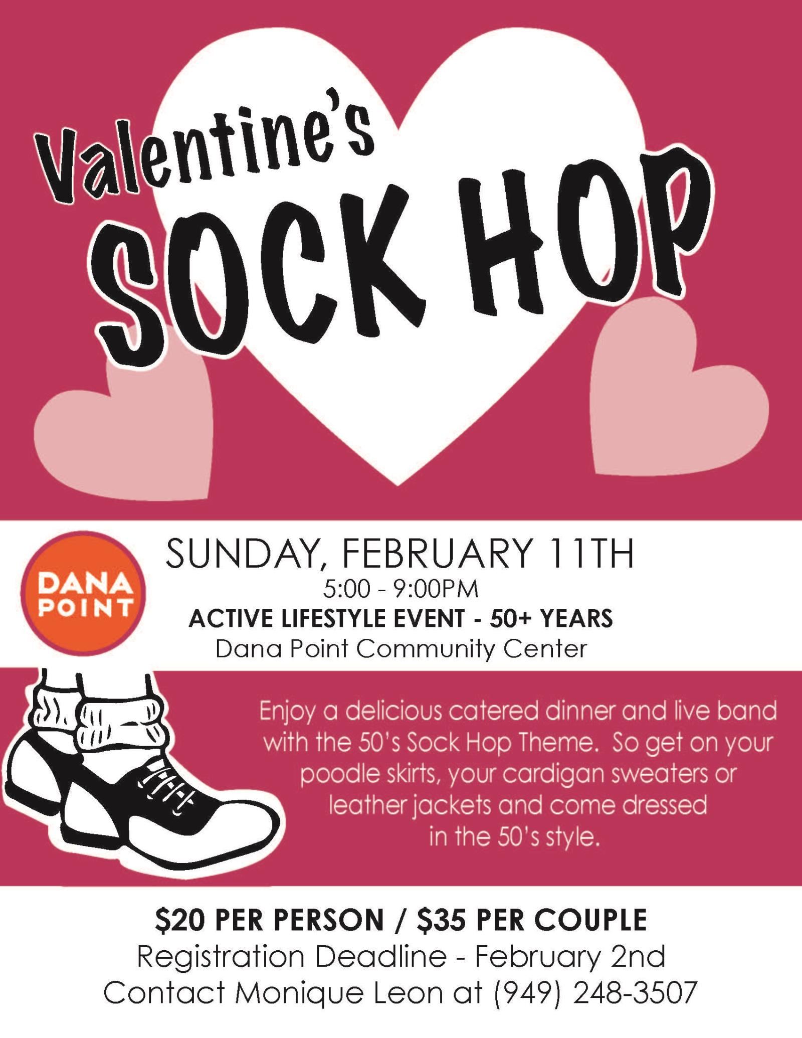 Sock Hop Flyer