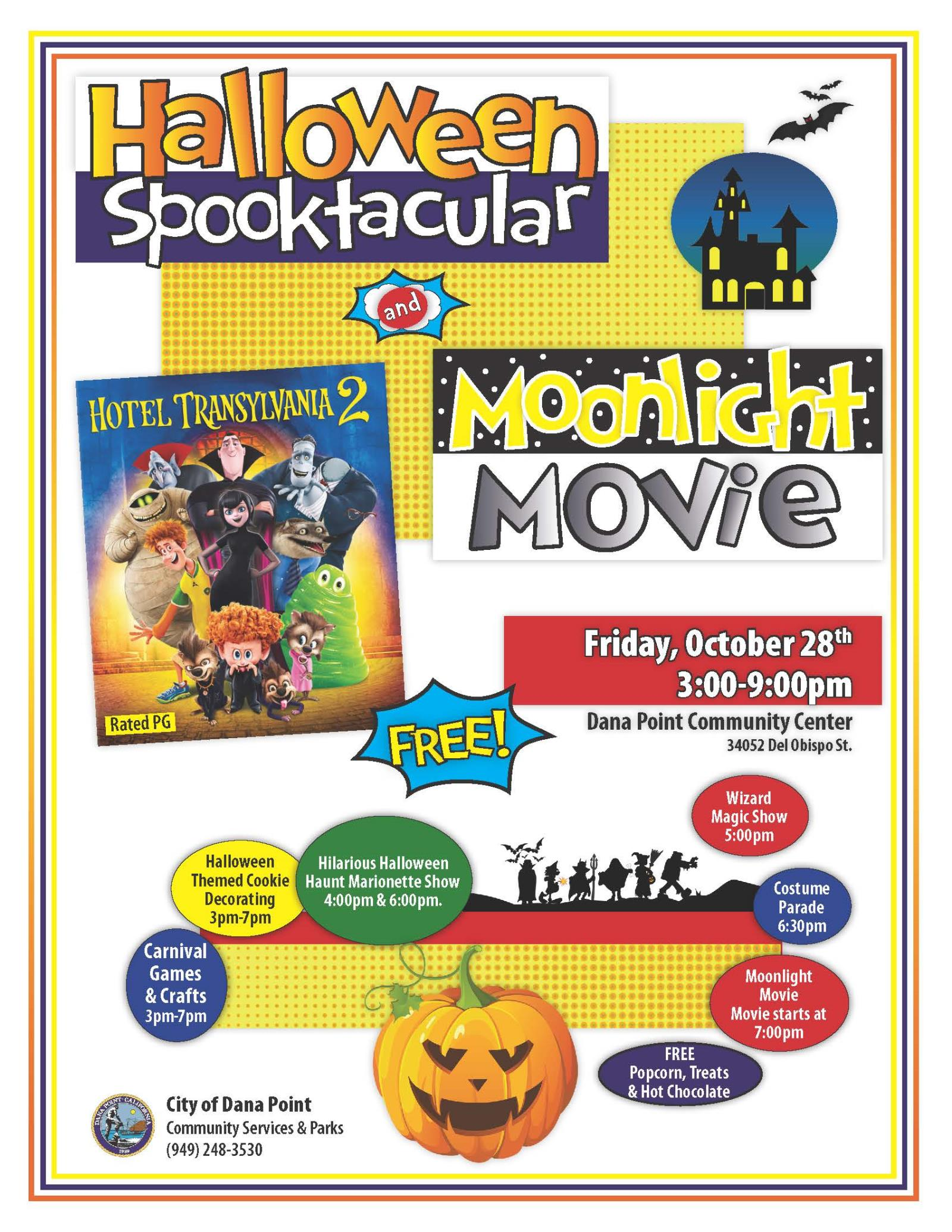 Halloween Spooktacular Movie.Halloween Spooktacular And Moonlight Movie Calendar City