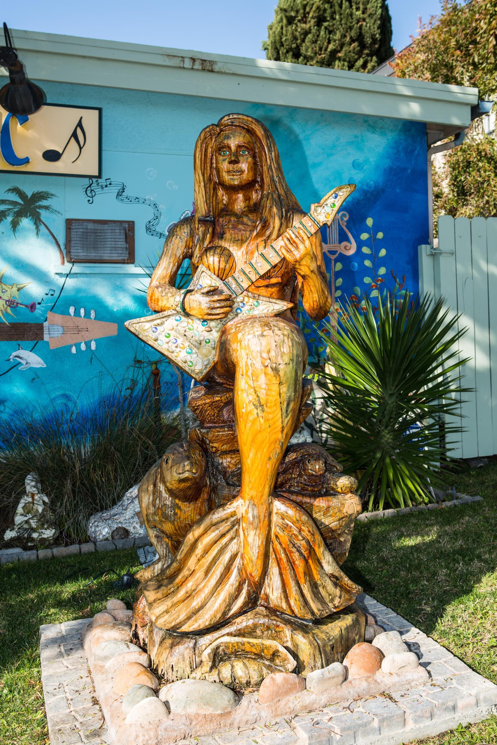 Wooden Mermaid City Of Dana Point