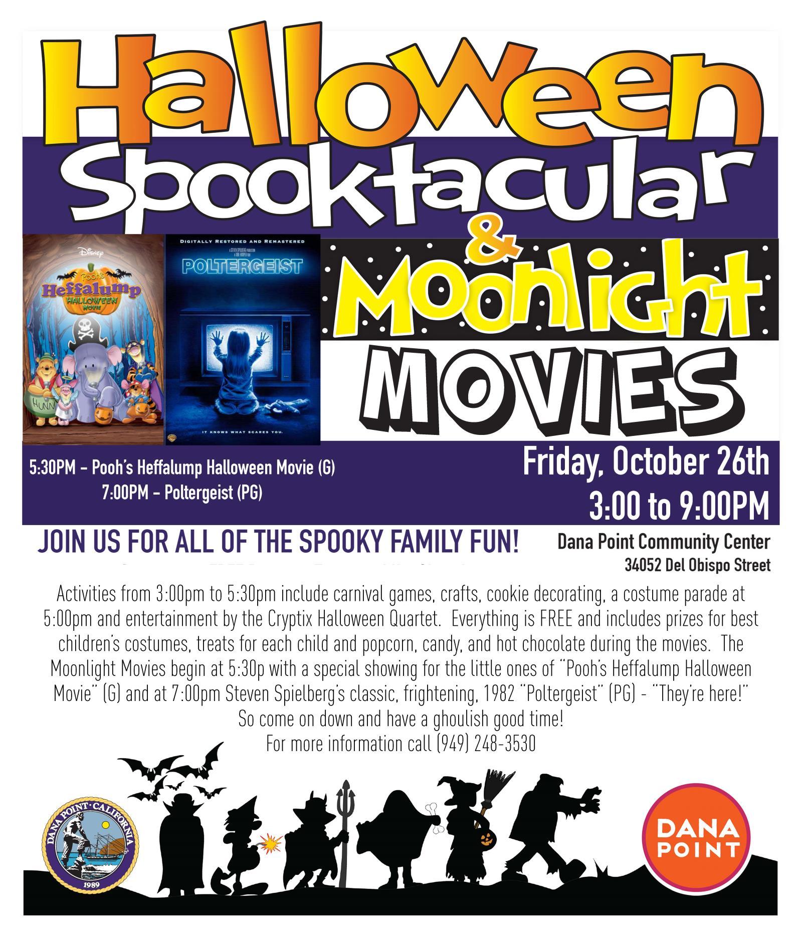 Halloween Spooktacular Movie.Halloween Spooktacular Moonlight Movies Calendar City