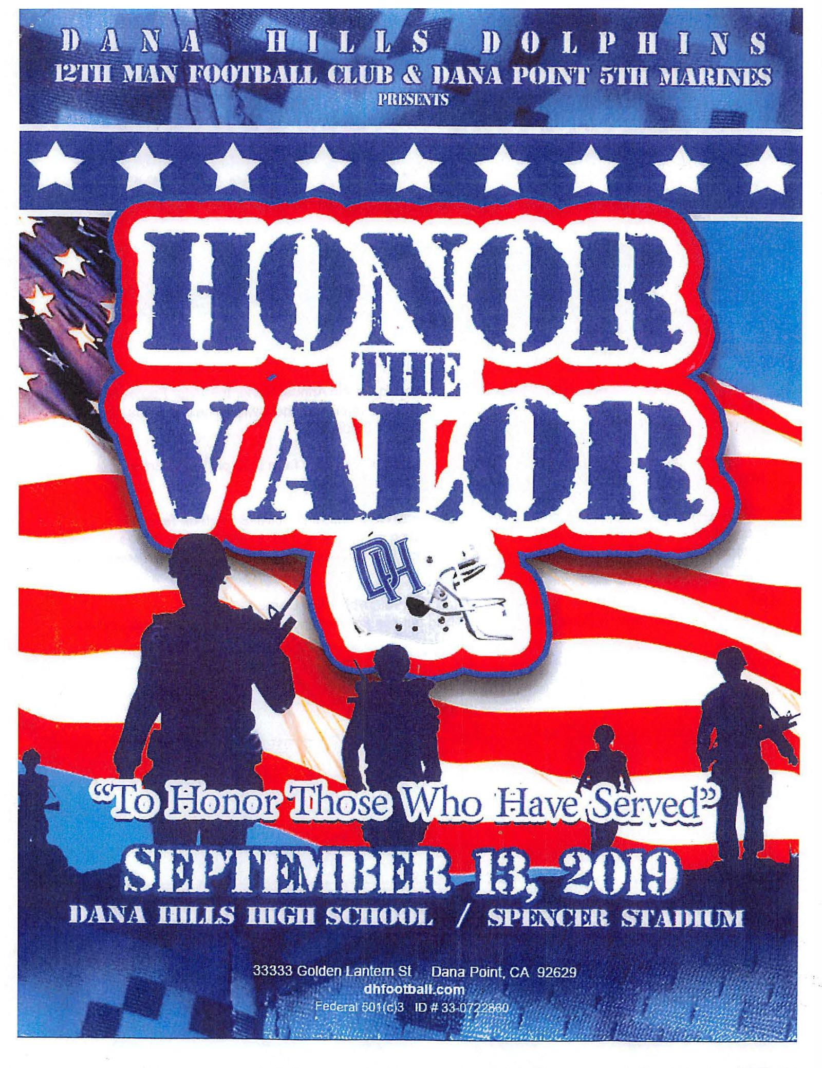 Honor the Valor Flyer