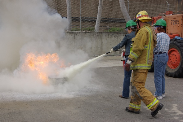 CERT Fire extinguisher exercise